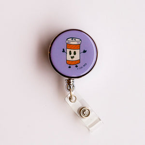Happy Pills Heavy Duty Badge Reel