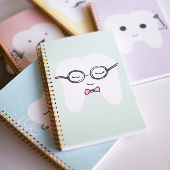 Notebook w/ PERSONALIZATION + DENTAL FACTS