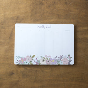 Weekly Notepad Planner