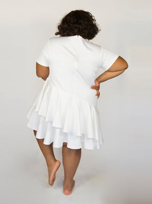 Ivory Topsy Turvy Dress