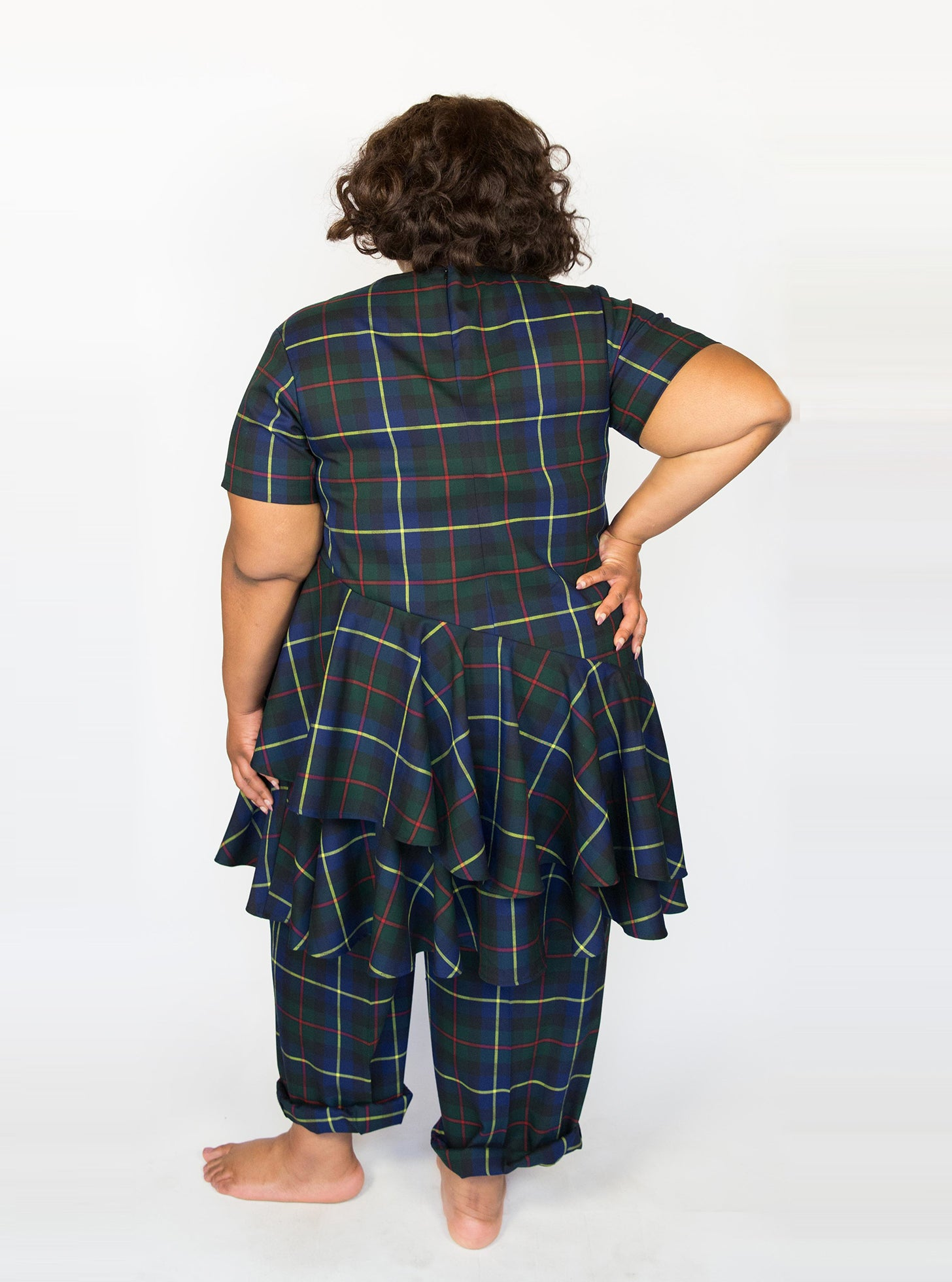 Plaid Topsy Turvy Dress