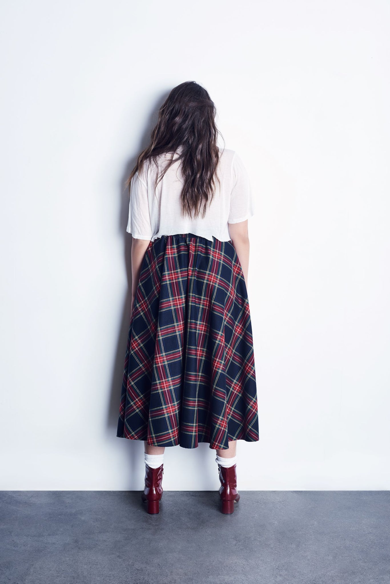 Red Plaid Full Circle Skirt With Smocked Waistband *Limited Quantities Available*