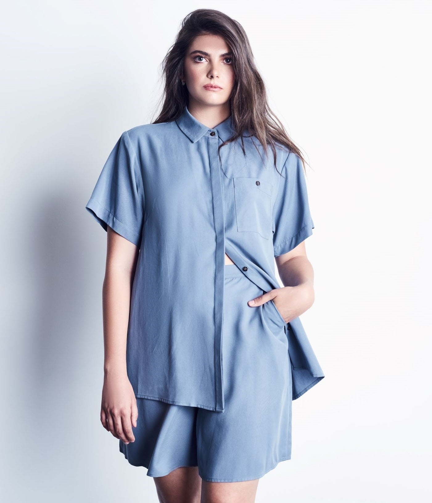 Tencel Button-Up Shirt