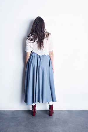 Tencel Full Circle Skirt With Smocked Waistband