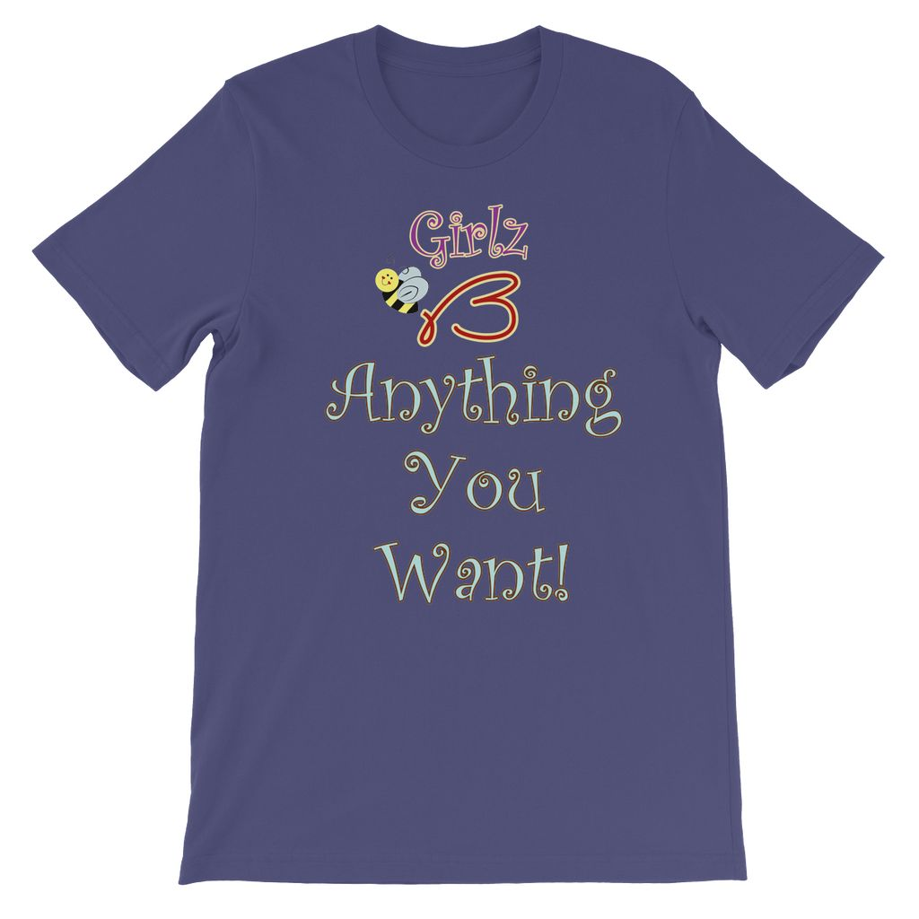 "Kids TShirt - ""Anything You Want"" Design"
