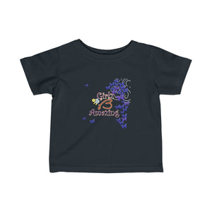 "Infant Fine Jersey Tee - ""Amazing"" Design"