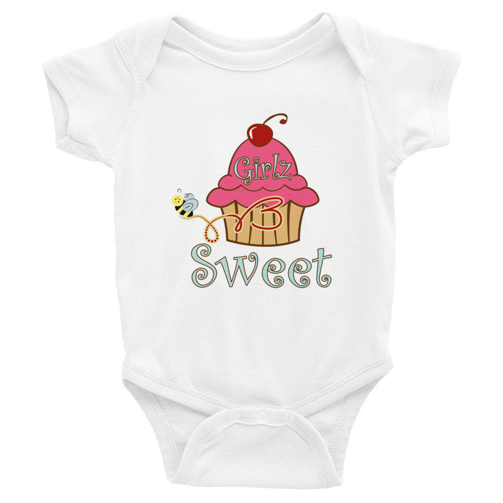 Infant Bodysuit - Cup Cake Design