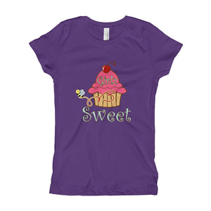 Girl's T-Shirt - Cup Cake Design