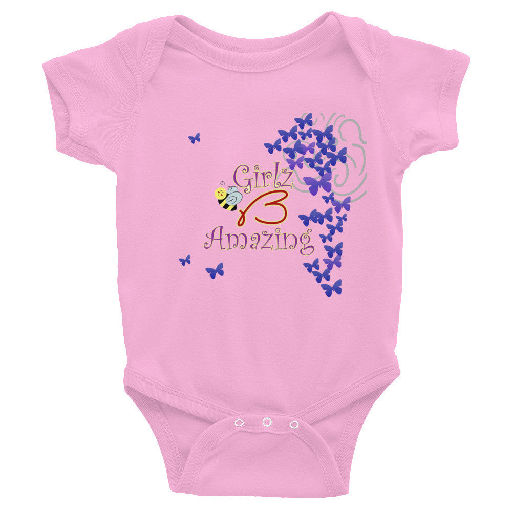 "Infant Bodysuit - ""Girlz B Amazing"" Design"