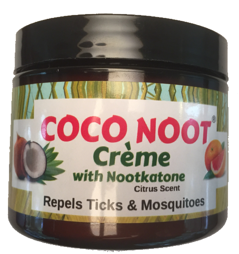 A rich deeply hydrating skin cream featuring coconut oil and nootkatone also repels ticks and mosquitoes