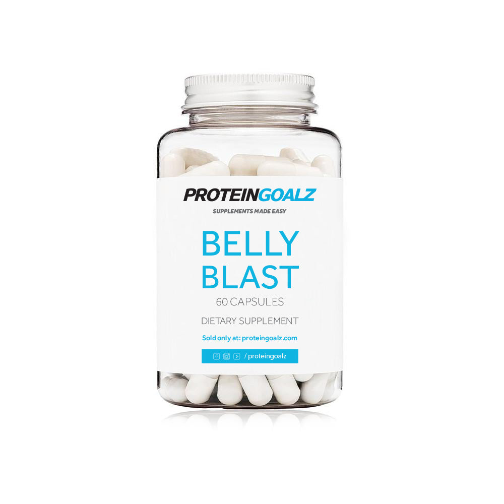 Belly Blast Fat Burner with Bitter Orange, synephrine and cayenne pepper by Protein Goalz, how to lose weight, lose weight, diet, exercise, bioperine, teacrine, forsholii root extract, yohime bark extract, green tea, best fat burner, ephedrine, ephedra, weight loss, detox, how to burn fat fast