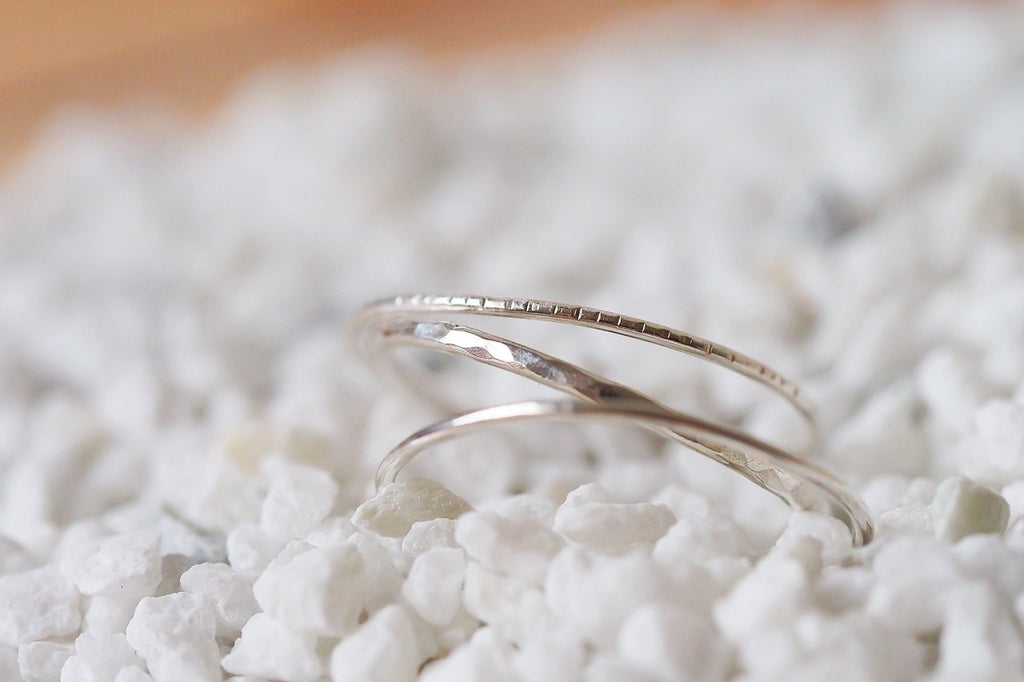 Mijatu Trio Stacking Ring Set handcrafted in Sterling Silver