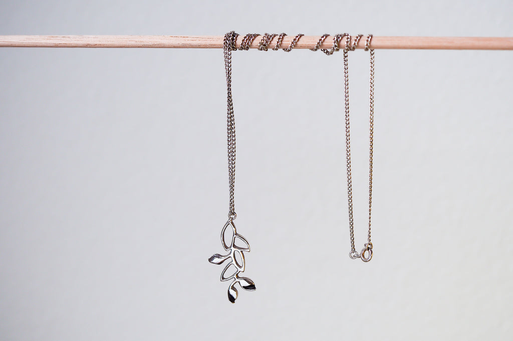 Mijatu Vine Necklace handcrafted in Sterling Silver and Gold