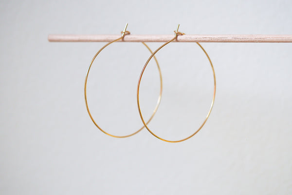 Mijatu Droplet Hoop Earrings handcrafted in solid Sterling Silver or Gold