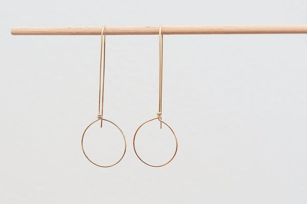 Mijatu Dew Drop Earrings in Gold Fill