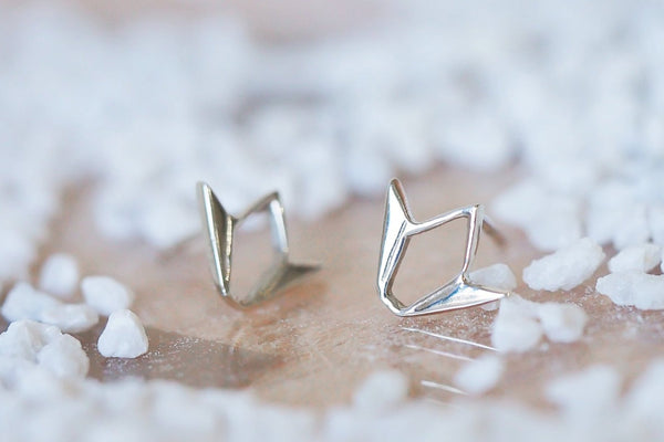 Mijatu Tulip Stud Earrings Handcrafted in solid Sterling Silver