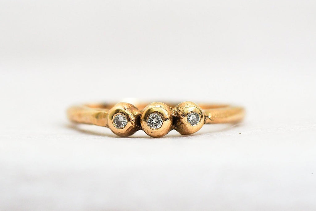 Mijatu Rockpool Diamond and Recycled Gold Ring with Australian Argyle Diamonds