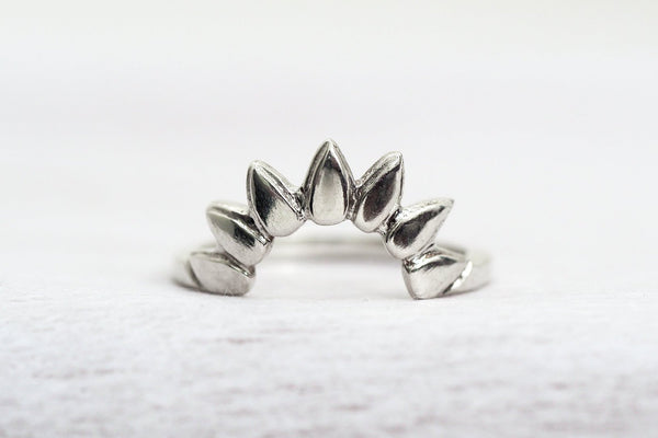 Mijatu Sunrise Ring Handcrafted in Sterling Silver