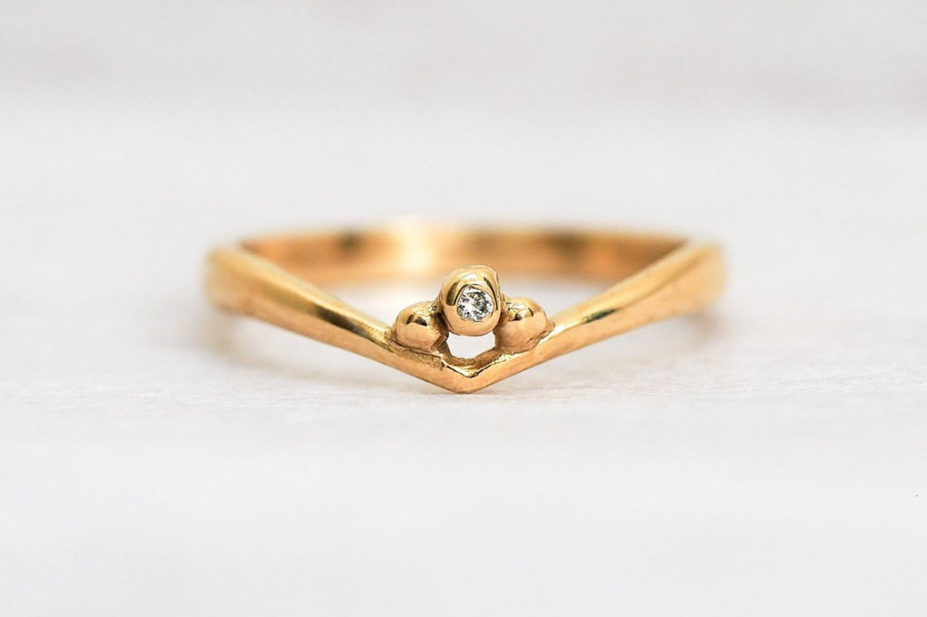 Mijatu Stepping Stones Recycled Australian Gold and Argyle Diamond Ring