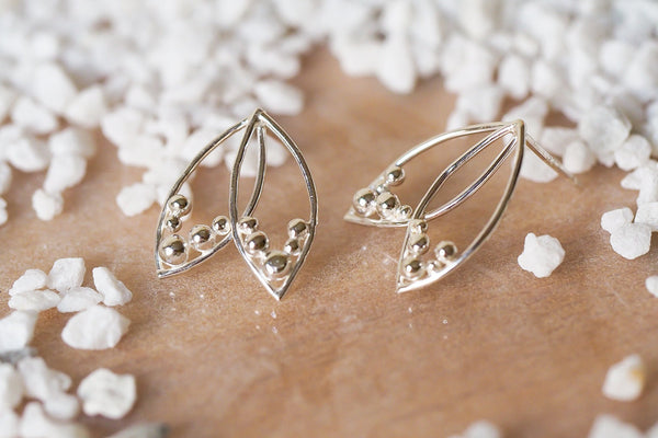 Mijatu Monarch Stud Earrings handcrafted in solid Sterling Silver