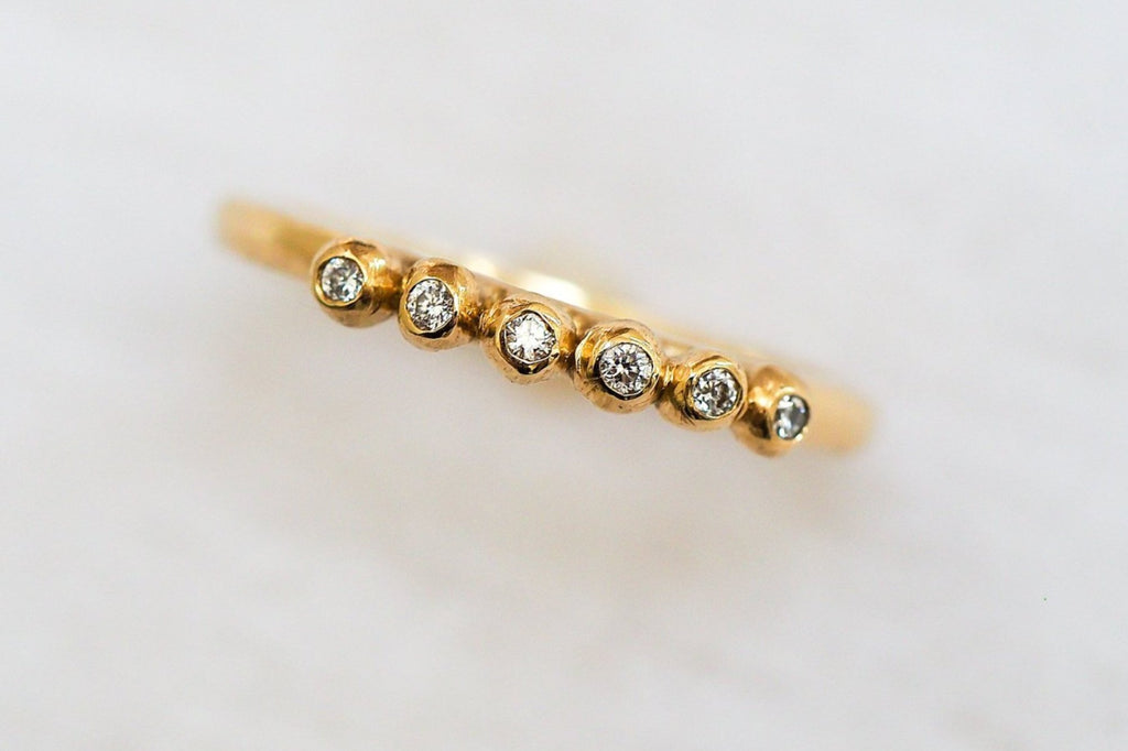 Mijatu Pollen Diamond and Recycled Gold Ring with Australian Argyle Diamonds