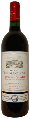 2009 Saint-Emilion Grand Cru, Chateau Tour Grand Faurie