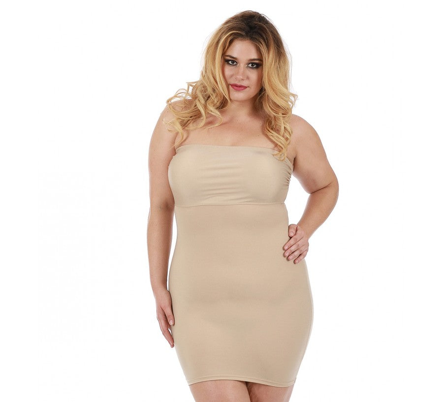 InstantFigure Strapless Slimming Curvy Shapewear Dress
