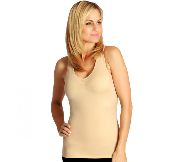 InstantFigure Shirred Tank Top Shapewear
