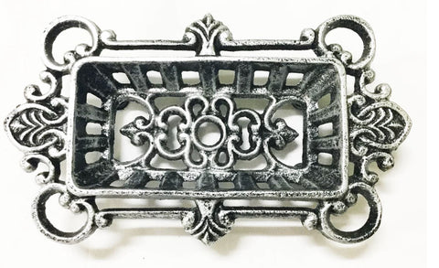 Elegant Silver Soap Dish,  - What.The.Soap.