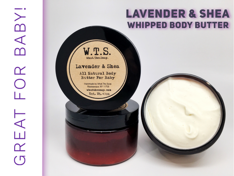 Lavender & Shea Whipped Body Butter, Body.Butter. - What.The.Soap.