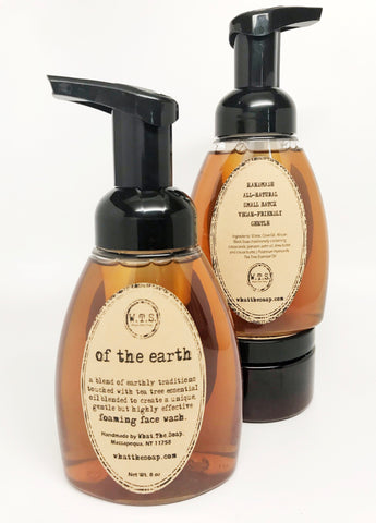Of The Earth Foaming Face Wash, Foaming.Soap. - What.The.Soap.