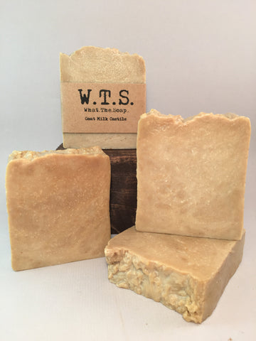 Goat Milk Castile, Bar.Soap. - What.The.Soap.