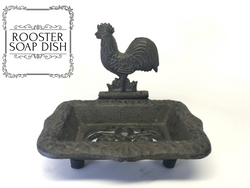 Cast Iron Rooster Soap Dish - Brown, Soap Dishes - What.The.Soap.