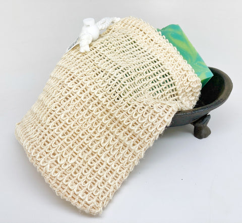 Sisal Soap Pouch, Shower Accessories - What.The.Soap.
