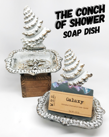 The Conch of Shower Soap Dish - What.The.Soap.
