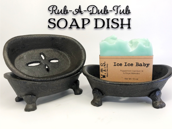 Rub-A-Dub Tub Cast Iron Soap Dish, Soap Dishes - What.The.Soap.