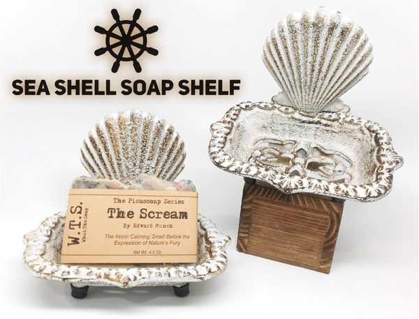 Sea Shell Soap Shelf, Soap Dishes - What.The.Soap.