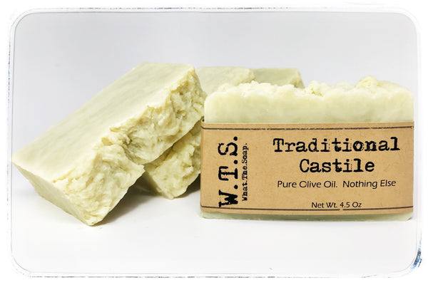 100% Pure Olive Oil Castile Soap - What.The.Soap.