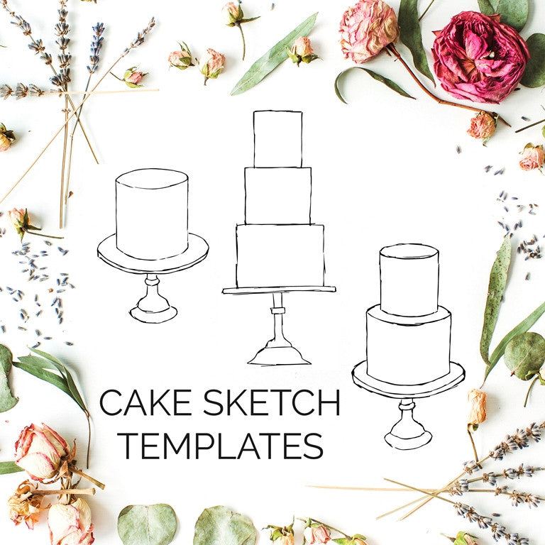 Cake Sketch Templates (ROUND)