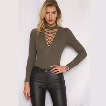Long Sleeve Bodysuit - Casual Party Skinny Catsuit