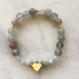 Aim High Bracelet - Moonstone & Aquamarine