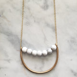 Howlite pitta dosha balancing necklace