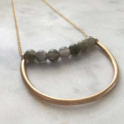Labradorite necklace - supports change and transformation