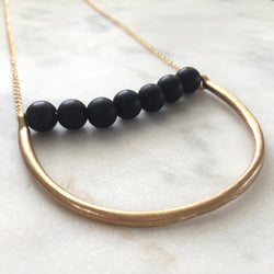 Onyx vata balancing necklace