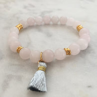 Flow Free Bracelet - Rose Quartz