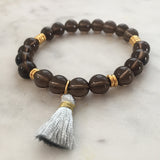 Flow Free Bracelet - Smoky Quartz