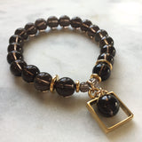 Framed Energy Bracelet - Smoky Quartz