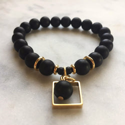 Onyx Framed Energy Bracelet