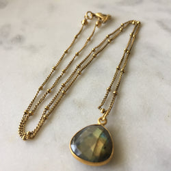 Transformation Drop Necklace - Labradorite