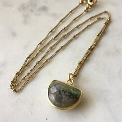 Transformation Half Circle Necklace - Labradorite